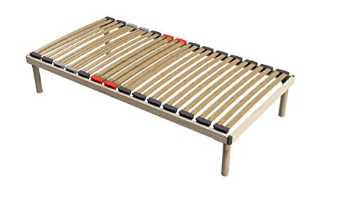 Coemo Hochwertiges Bettgestell mit Lattenrost 'Dorado' Massivholz Buche, Betten-Abmessung:100 x 200