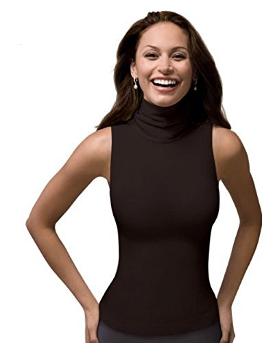 SPANX On Top and in Control - Chic Sleeveless Shaping Turtleneck (974) Bittersweet/X - Large