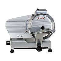 Smartxchoices 家庭商用利用厚さ調節可能なチーズ食品フルーツパンスライサーマシン(240ワット530 rpm)で10インチ 半自動スライサー