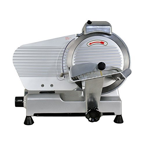 Smartxchoices 10-inch Semi-Auto Meat Slicer for Home Commercial Use Thickness Adjustable Cheese Food Fruit Bread Slicer Machine (240W, 530 RPM)