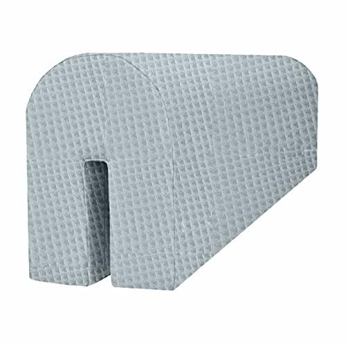 MIMUSELINA BUMPER protector barrera para cuna, mini cama, litera o cama. Cojín gomaespuma adaptable para barreras protectoras de golpes para bebés. Paragolpes bebé (Wafle Mint)