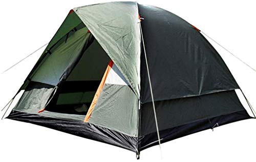 Dome Tent With Snow Skirt Double Layer Outdoor Windproof 3-4 Person Camping Hiking Tent,Green Automatic Camping Tent eternal