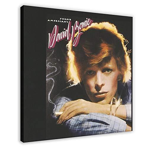 Poster David Bowie Young Americans Toile décorative pour chambre à coucher, décoration sportive, paysage, bureau, cadre cadeau 50 x 50 cm