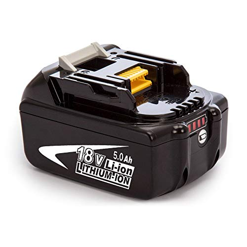 FUNMALL BL1850B 18V 5.0Ah Batterie Remplacement BL1860B BL1850 BL1840 BL1830 BL1820 BL1815 BL1825 BL1835 BL1845 LXT-400 avec LED Indicateur