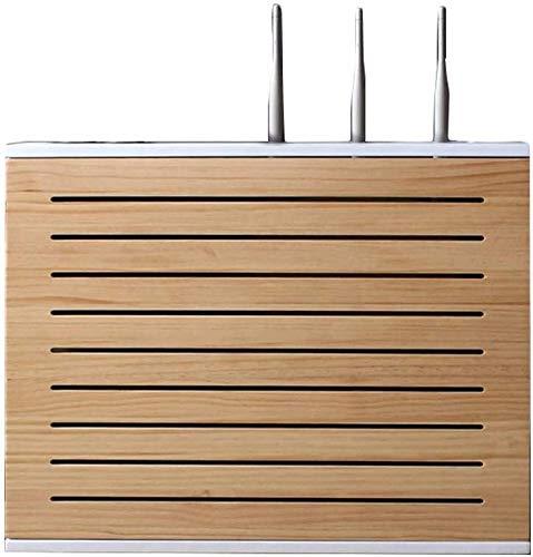 LUYIYI Débil actual cuadro de multimedia decoración de la sala de estar gabinete de la TV libre de la caja de blindaje golpe Información Hub Box colgantes del estante router inalámbrico Wi-Fi Router P