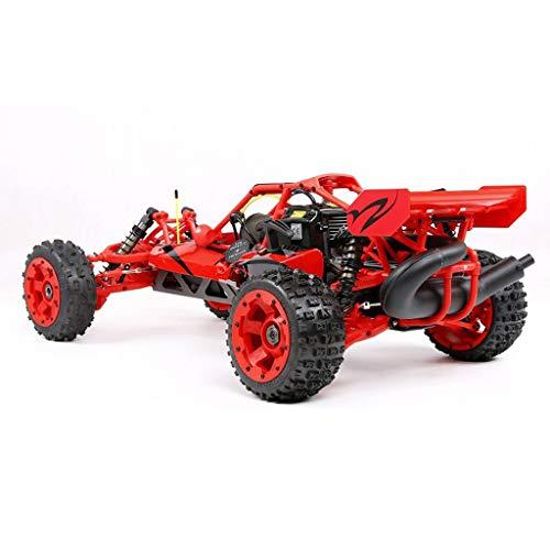 HIUHIU 1/5 Benzin Gelände Körper ferngesteuertes Auto-Modell Spielzeug für Erwachsene Fernbedienung Auto-Modell Spielzeug hohe Festigkeit,Rot