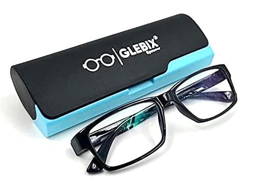 GLEBIX Eye Protection Blue Cut Computer Glasses Blue Light Blocking Glasses for Men Women with Anti Glare and Blue Ray Filter Eyeglasses Laptop & Digital screen blue cut lenses (zero power)unisex