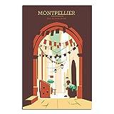 ASFGH Die Straßen von Montpellier Frankreich Vintage
