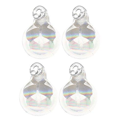 Harilla Bunte Glaskugeln Anhänger, Kristall DIY Charms Runde Kugel Regenbogen Kugeln zum aufhängen Fensterdeko Feng Shui Kristallglas - 14mm