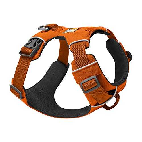 RUFFWEAR, Front Range Dog Harness, Reflective and Padded Harness for Training and Everyday, Campfire Orange, XX-Small