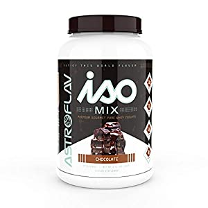 AstroFlav IsoMix Premium Whey Protein Isolate Powder, Advanced Protein with BCAAs and EAAs for Muscle Building, 25g Instantized Whey Protein Isolate, 30 Servings, Chocolate