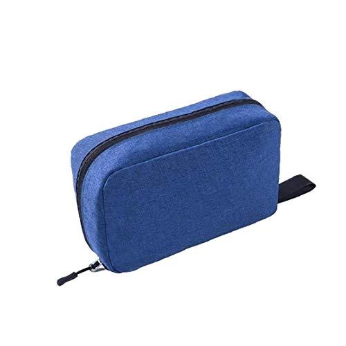 Sac de toilette Maquillage cosmétique Portable Wash Sac Organisateur Voyage avec poignée pour hommes femmes (bleu foncé)
