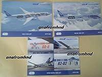 ANA STAR WARS スターウォーズ 絵葉書 ポストカード R2-D2やBB-8等 各1種類が各1枚で合計3枚 全日空の機内で入手