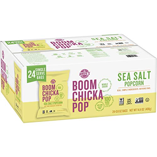 Check Out This Angie's BOOMCHICKAPOP Sea Salt Popcorn, 0.6 Ounce Bag, (Pack of 24)
