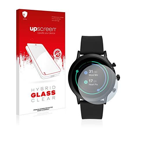 upscreen Hybrid Glass Panzerglas Schutzfolie kompatibel mit Fossil The Carlyle HR (5.Gen) 9H Panzerglas-Folie