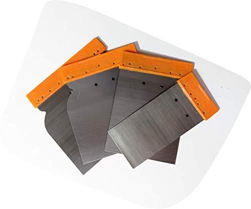 Espátulas Carrocero Hierro para Masilla, 4 piezas (50, 80, 100, y 120 mm)