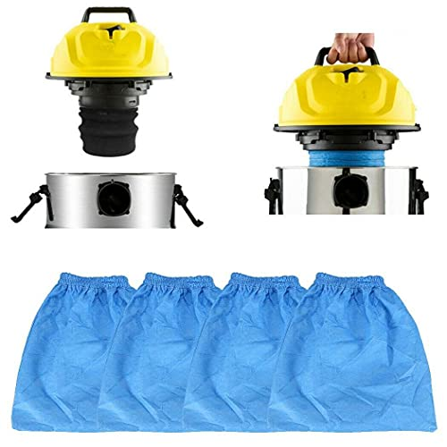 Odashen 4 piezas para filtro de tela de gremio para aspiradoras de 16-30L húmedo/seco 950135 azul Accesorios