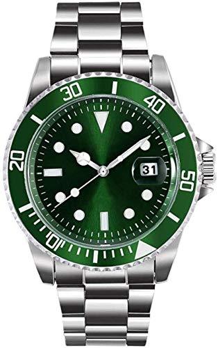 Relógio de mergulho masculino original - Pro Sport Diver com coroa rosqueada e resistente à água até 330 pés - mostrador analógico, movimento de quartzo, relógio masculino de aço à prova d'água luminoso (cor: preto) Melhorar, Verde