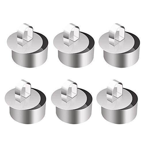 Ganata 6 x Stahl-Kuchenringe, Mousse-Kuchenformen und Gebäck, Backform, Dessert-Ringe-Set zum Backen