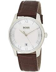 Hugo Boss Mens Quartz Watch, Analog Display and Stainless Steel Strap, 1513588