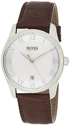 Hugo Boss Mens Quartz Watch, Analog and Leather- 1513586