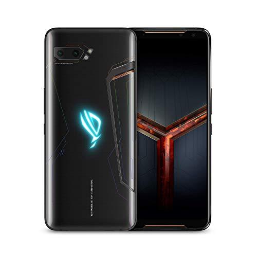 ASUS ROG Gaming Phone II (ZS660KL-S855P-12G512G-BK) 6.6' FHD+ 2340x1080 HDR 120Hz Display - 48MP/13MP Camera - 12GB RAM 512GB Storage - LTE Unlocked Dual SIM Cell Phone - US Warranty - Black (Renewed)