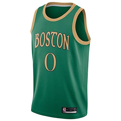 QKJD NBA Baloncesto Uniformes Celtic # 0 Camiseta de Baloncesto para Hombre NBA Tatum Camiseta clásica de Malla con Bordado Transpirable para Aficionados Green-M