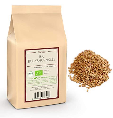 500g BIO Bockshornkleesamen ganz, Bockshornklee-Saat ohne Zusätze - als vielseitiges Gewürz oder als Bockshornklee Tee - BIO Bockshornklee Samen in biologisch abbaubarer Verpackung