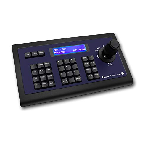 Tenveo KZ1 | PTZ Kameras Tastatur Controller mit Joystick, Unterstützt VISCA, PELCO D/P-Protokoll, für Kirche Live Streaming und Groß Konferenzraum, Klassenzimmer, Live-Show, Musikfestival