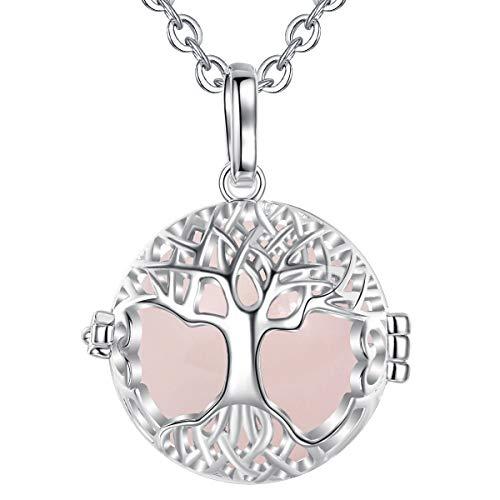 EUDORA 20mm keltischer Baum des Lebens Harmony Ball Anhänger Halskette Musik Glockenspiel Frauen Schmuck, schönes Geschenk, 30