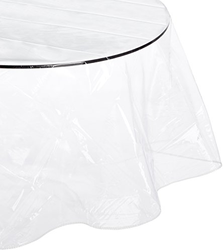 """Carnation Home Fashions Oval-Shaped Vinyl Tablecloth Protector, 60"""" by 90"""""""
