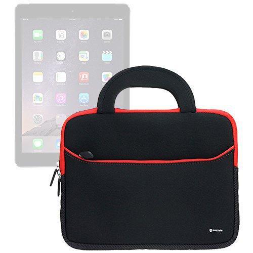 Evecase iPad Pro 10.5 / iPad 9.7 2017, Case Bag, UltraPortable Handle Carrying Portfolio Neoprene Sleeve Case Bag for Apple iPad Pro 9.7, iPad Air 2 (iPad 6) / iPad Air (iPad 5), iPad 4 3 2- Black