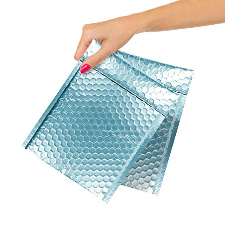 ABC Pack of 10 Ice Blue Bubble Mailers 8.5 x 11 Ice Blue Padded Envelopes 8 1/2 x 11 Glamour Poly Bubble Mailers Peel and Seal Shipping Bags for Mailing Packing Packaging, Wholesale Price