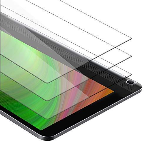 Cadorabo Película de Armadura 3X Compatible con Lenovo Yoga Tablet 3 10 (10.1') - película Protectora en Transparencia ELEVADA Paquete de Vidrio Templado en dureza 9H con compatibilidad táctil 3D
