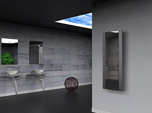 Badheizkörper Design Singapur 2, HxB: 120 x 47 cm, 799 Watt, silber (metallic) / Spiegel (Marke: Szagato) Made in Germany/Bad und Wohnraum-Heizkörper (Mittelanschluss Spiegelglas, Echtglas)