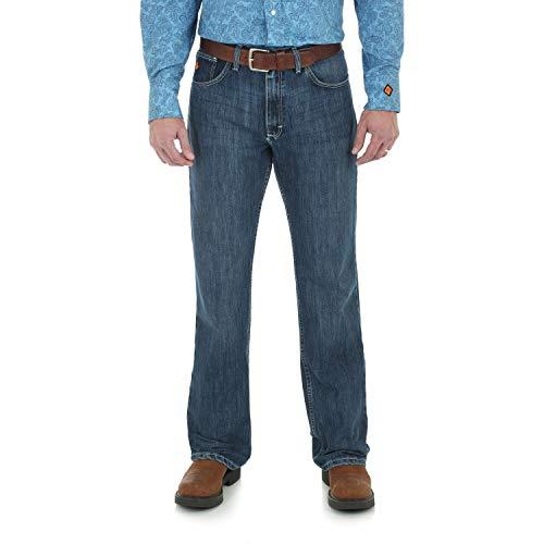 Wrangler Riggs Workwear Men's FR Flame Resistant 20X Vintage Boot Cut Jean, Midstone, 34x32
