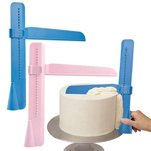 2 Raspador de pasteles para aplicar azúcar en tartas, ajustable DIY hornear,...