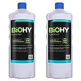BiOHY Abrillantador (2 botellas de 1 litro) | Apto para todos los lavavajillas | para un brillo inmejorable en los vasos y platos sin manchas de agua (Klarspüler)