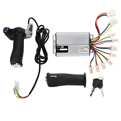 DAUERHAFT 1000W Motor Brushed Speed Controller,Aluminum and Plastic Electric Tricycle Throttle Grip,with Battery Display,Scooter Accessory Kit,for Scooter(48v1000w)