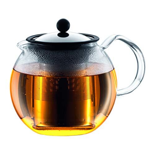 Bodum Assam Tea Press, Filtro Permanente, Manico in Vetro, 1,5 l, Lucido