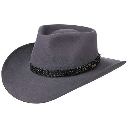 Akubra Snowy River Fur Felt Hat Women/Men Grey 7 3/8