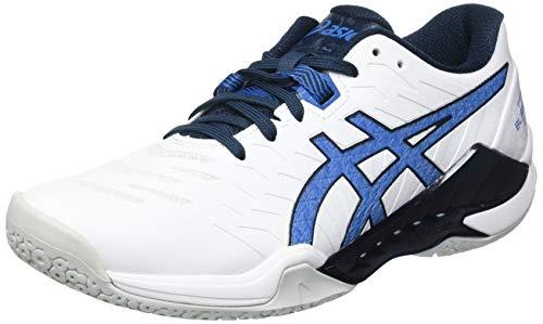 ASICS Blast FF 2, Handball Shoe Uomo, White/Reborn Blue, 45 EU
