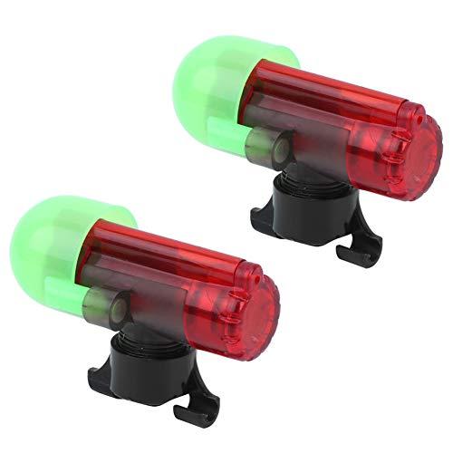 Cloudbox Alarma de Pesca 2 Juegos Sensor de Pesca Nocturna Alarma de Varilla de luz Tipo de Poste de Bloqueo Sensible a la señal LED
