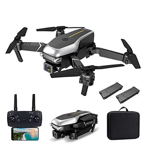 XIAOKEKE Drone con Doppia Fotocamera 4K HD per Adulti, Quadricottero Pieghevole Professionale WiFi FPV, Drone RC può Volare per 24 Minuti con 2 Batterie