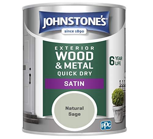 Johnstone's 309165 Exterior Satin, Natural Sage, 0.75 Liters