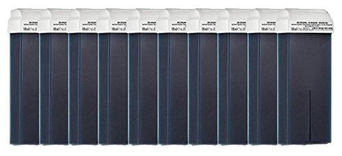 10 Cartouches de cire à épiler BLEU AZULENE, Cartouche de 110 ml, épilation avec bande,PUREWAX By Purenail