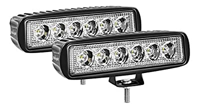 Nilight Led Light Bar 2PCS 18w Spot Driving Fog Light Off Road Lights Boat Lights driving lights Led Work Light SUV Jeep Lamp,2 years Warranty