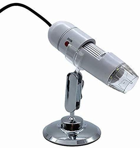 Regalos para niños Aumento de 500 veces, Microscopio de alta resolución, Lámpara integrada de 8 LED, Pedestal ajustable universal, Lupa digital, Computadora USB Teléfono móvil, Belleza, Piel, Electrón