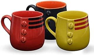 storeindya Ceramic Beer Mug Tea Coffee Milk Mug Studio Pottery Cup Home Kitchen Serveware (Set of 3)