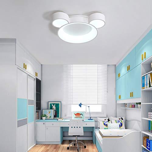 Plafondlamp, tekenentrick-design, led-kroonluchter voor babykamer, werkkamer, voor jongens en meisjes, hanglamp, park, hal, plafondlamp, Nordic dimbaar, 40 W